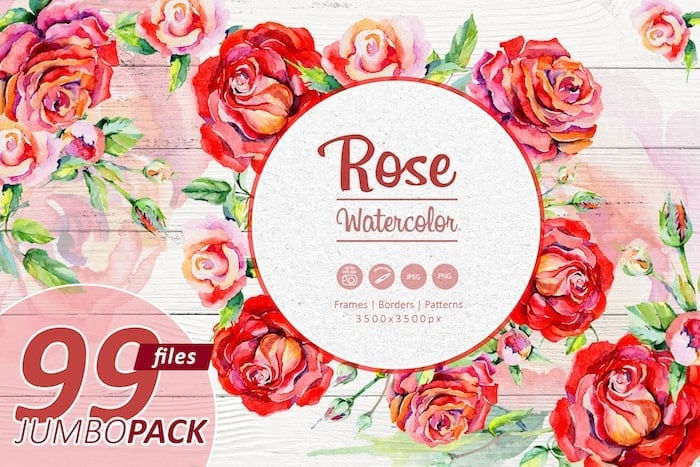 The Best Watercolor Bundle: 50 products, 2600 files - $19 ONLY - MYSTOCKS 2849 min