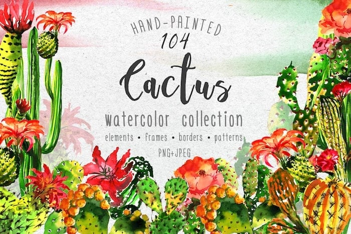 The Best Watercolor Bundle: 50 products, 2600 files - $19 ONLY - MYSTOCKS 3017 min