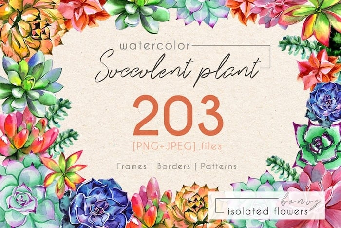 The Best Watercolor Bundle: 50 products, 2600 files - $19 ONLY - MYSTOCKS 3019 min