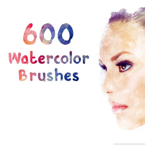 600 Free Watercolor Brushes - $0 - P2 490x490