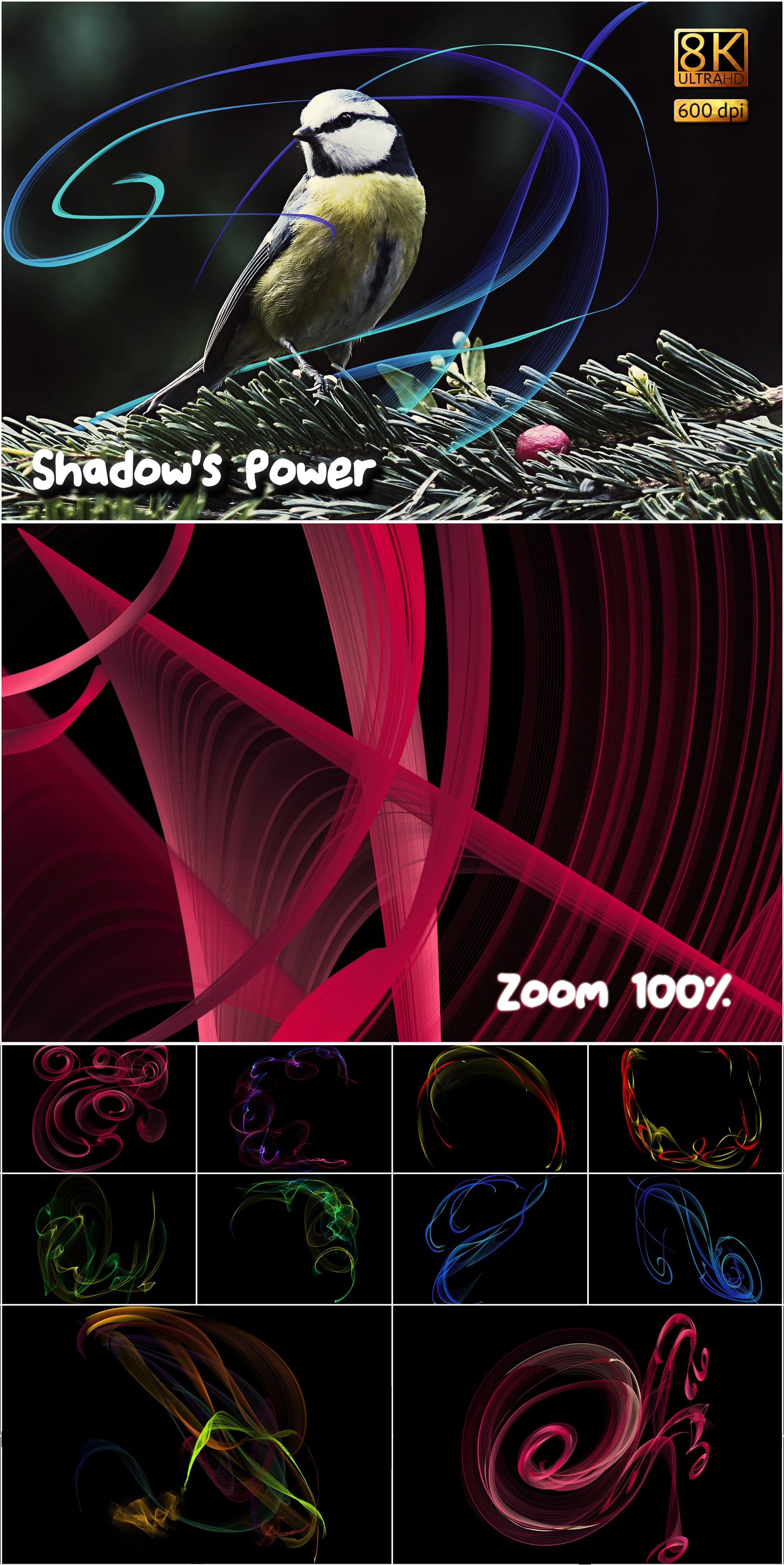 877 Detailed  Alien Overlays - $24 - Shadows Power