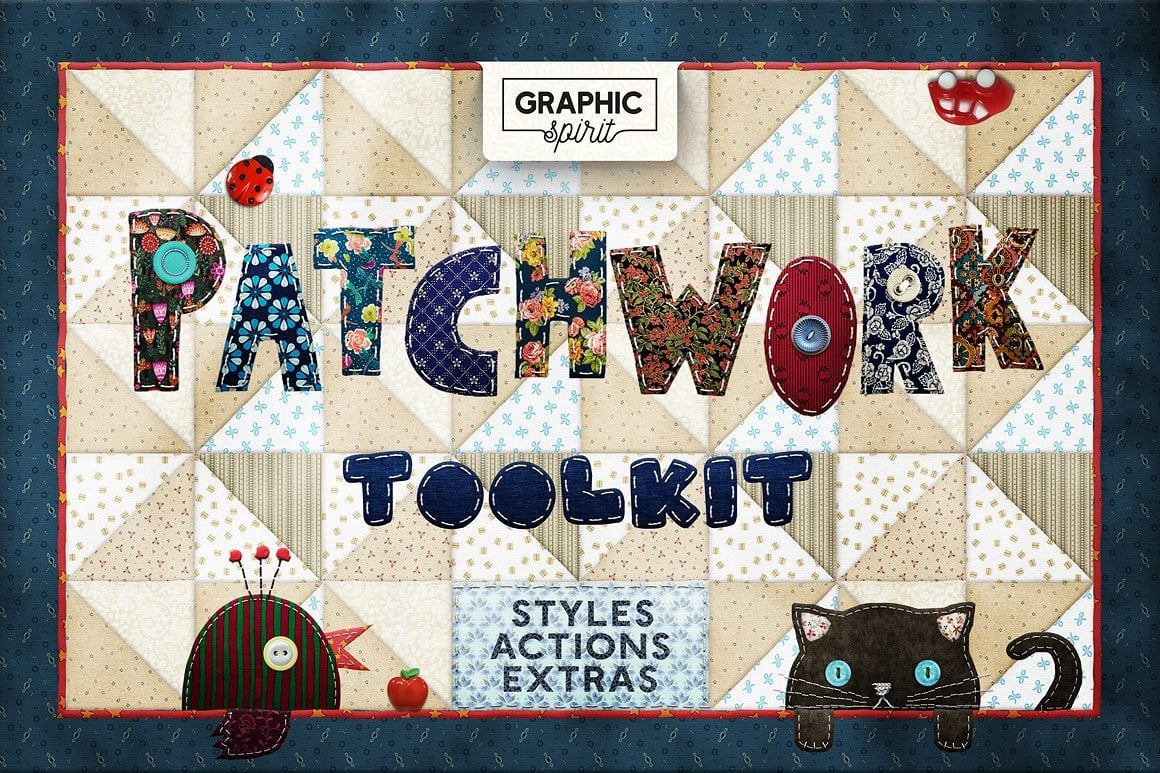 Photoshop TOOLKIT: PATCHWORK Effect - $19 ONLY - patchwork effect photoshop toolkit view0