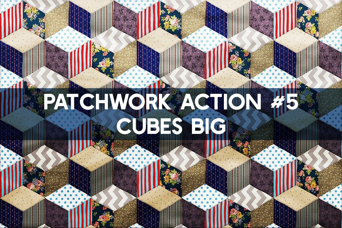 Photoshop TOOLKIT: PATCHWORK Effect - $19 ONLY - patchwork effect photoshop toolkit view9