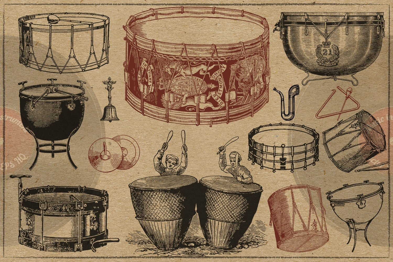 100 Vintage Music Instruments