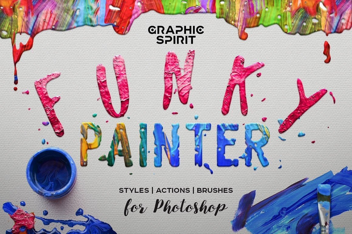 FUNKY PAINTER Photoshop Creative Kit - just $19 - view1 1 1