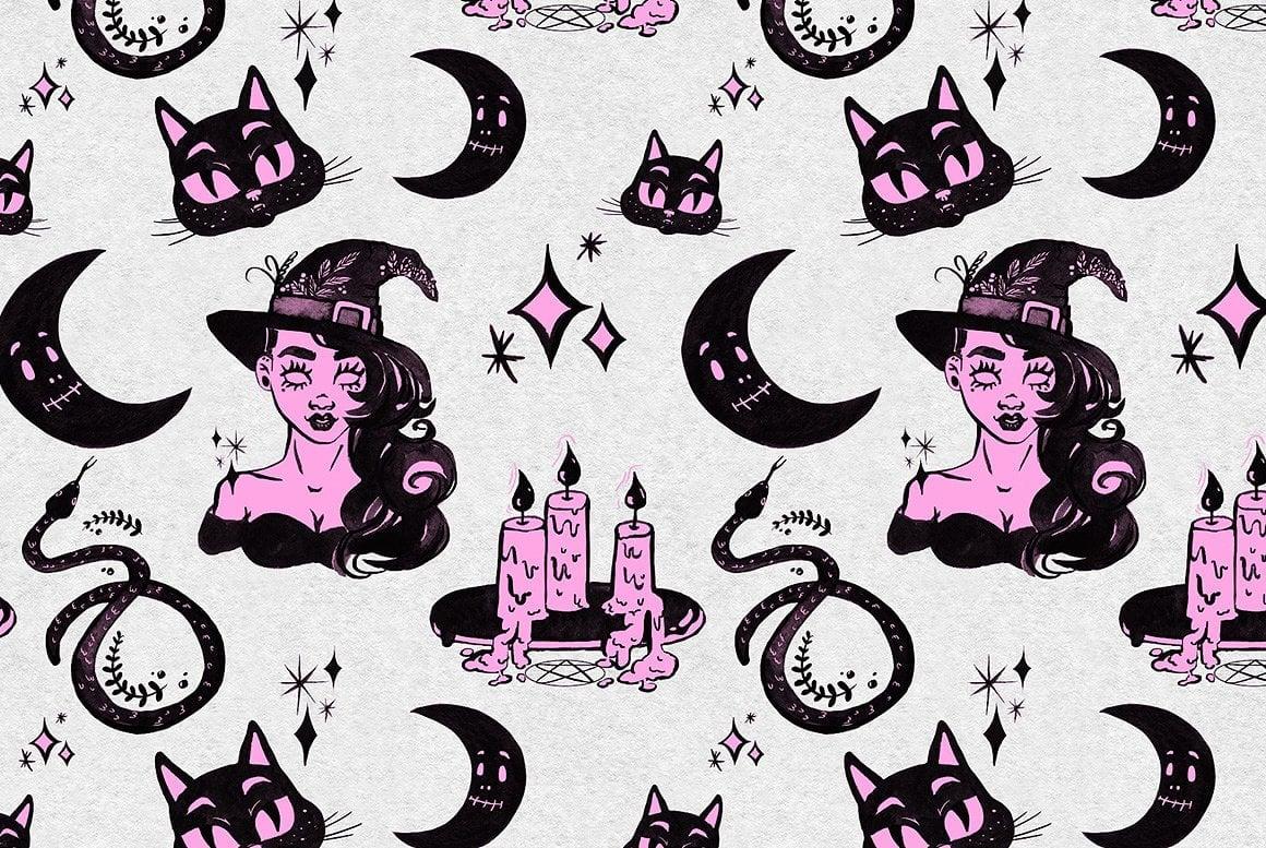 Luxury Witchcraft: 109 Graphic Elements - $12 - witchcraft prev 14
