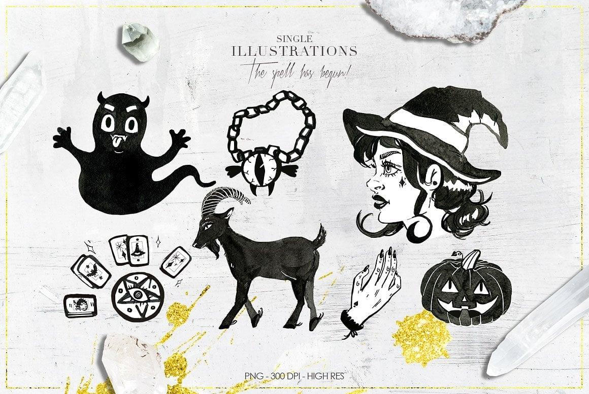 Luxury Witchcraft: 109 Graphic Elements - $12 - witchcraft prev 5