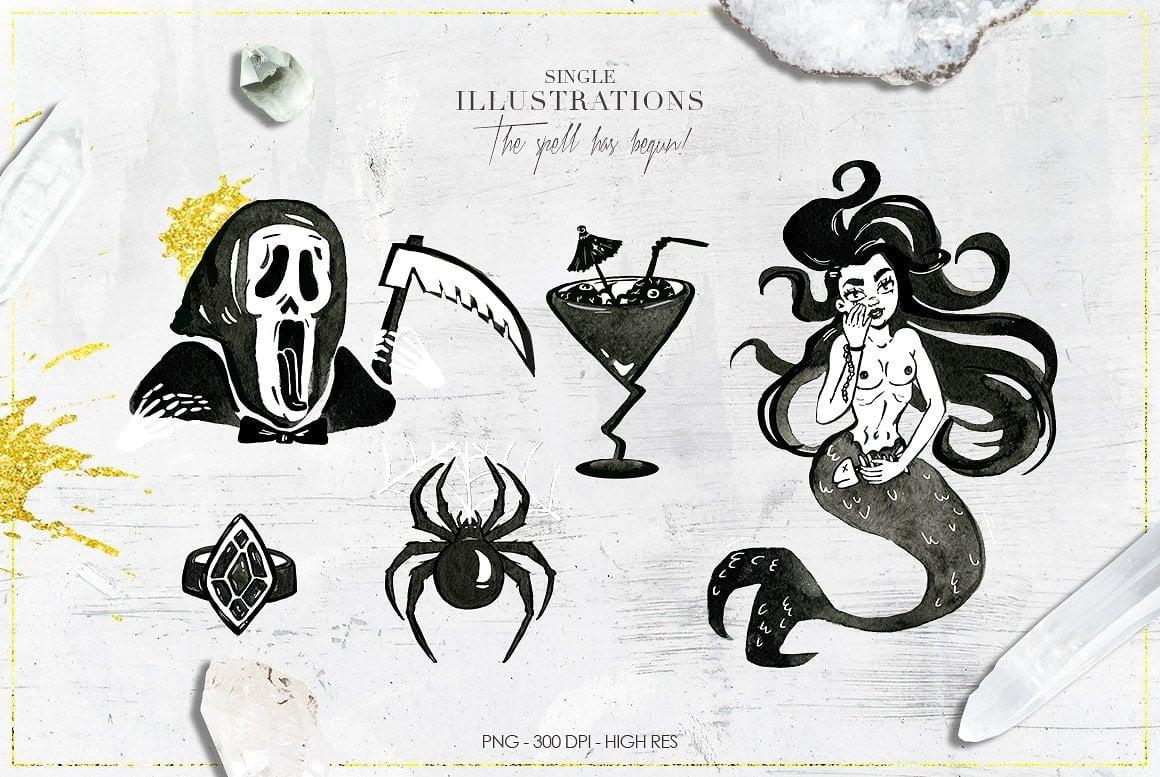 Luxury Witchcraft: 109 Graphic Elements - $12 - witchcraft prev 6