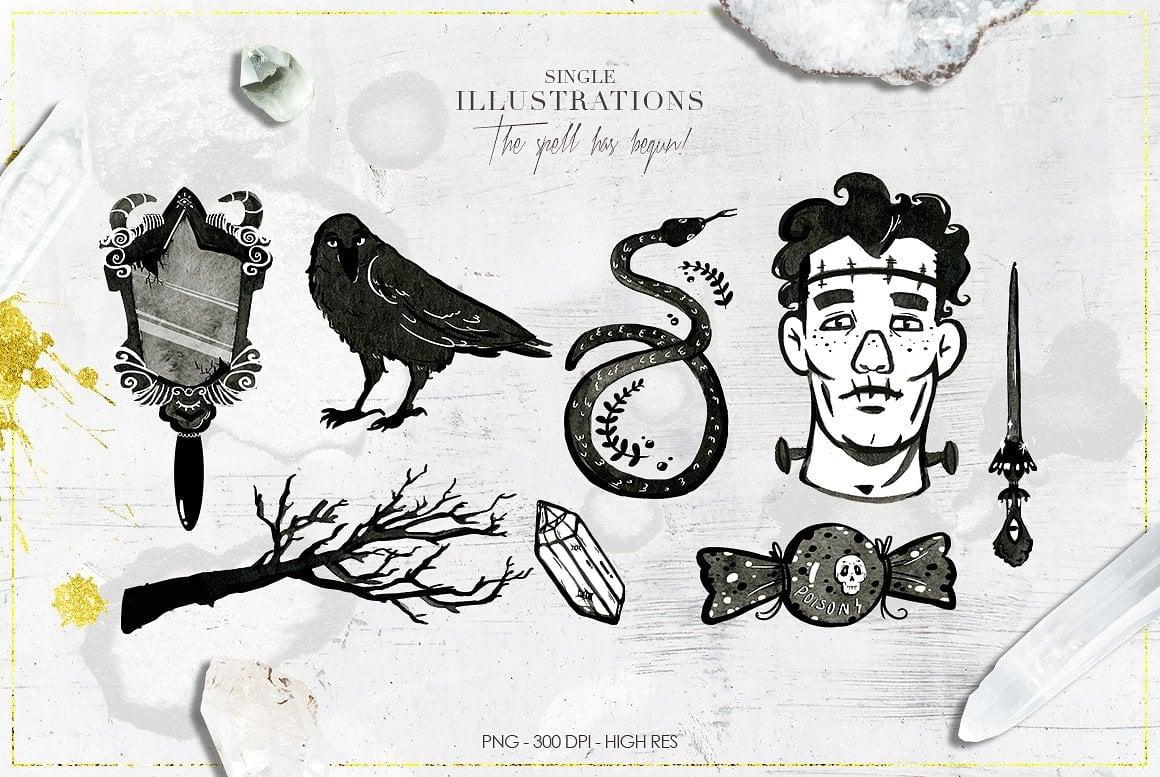 Luxury Witchcraft: 109 Graphic Elements - $12 - witchcraft prev 7