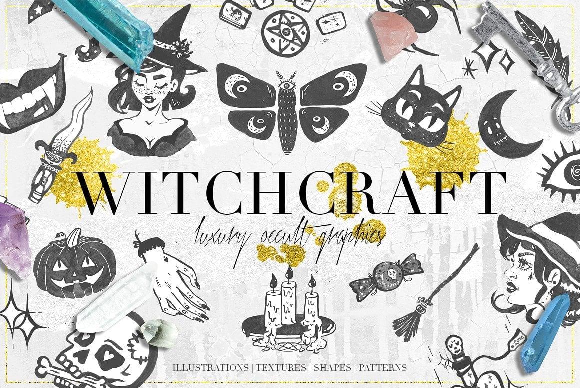 Luxury Witchcraft: 109 Graphics Elements