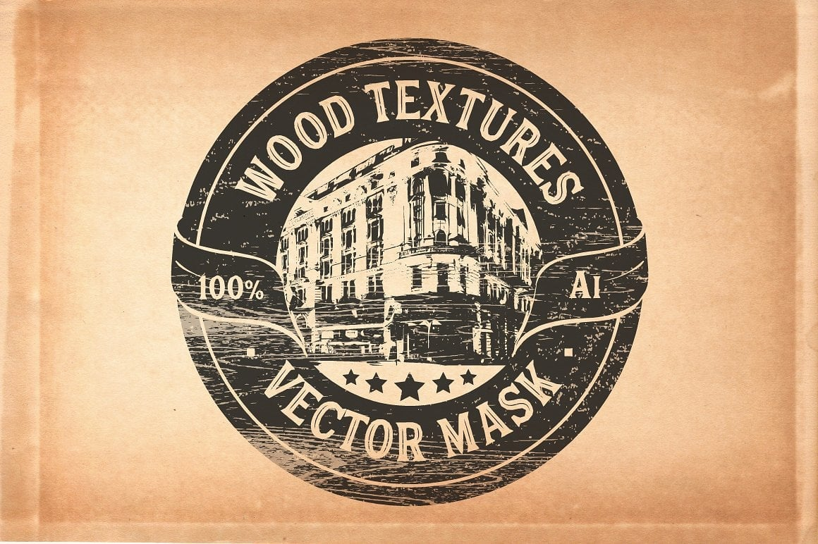 Vector GRINDER Toolkit: Retro Actions and Textures - just $19 - wooden view