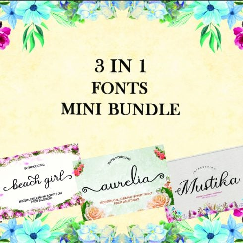 3 in 1 Fonts Mini Bundle - $10 ONLY - 1 2 490x490