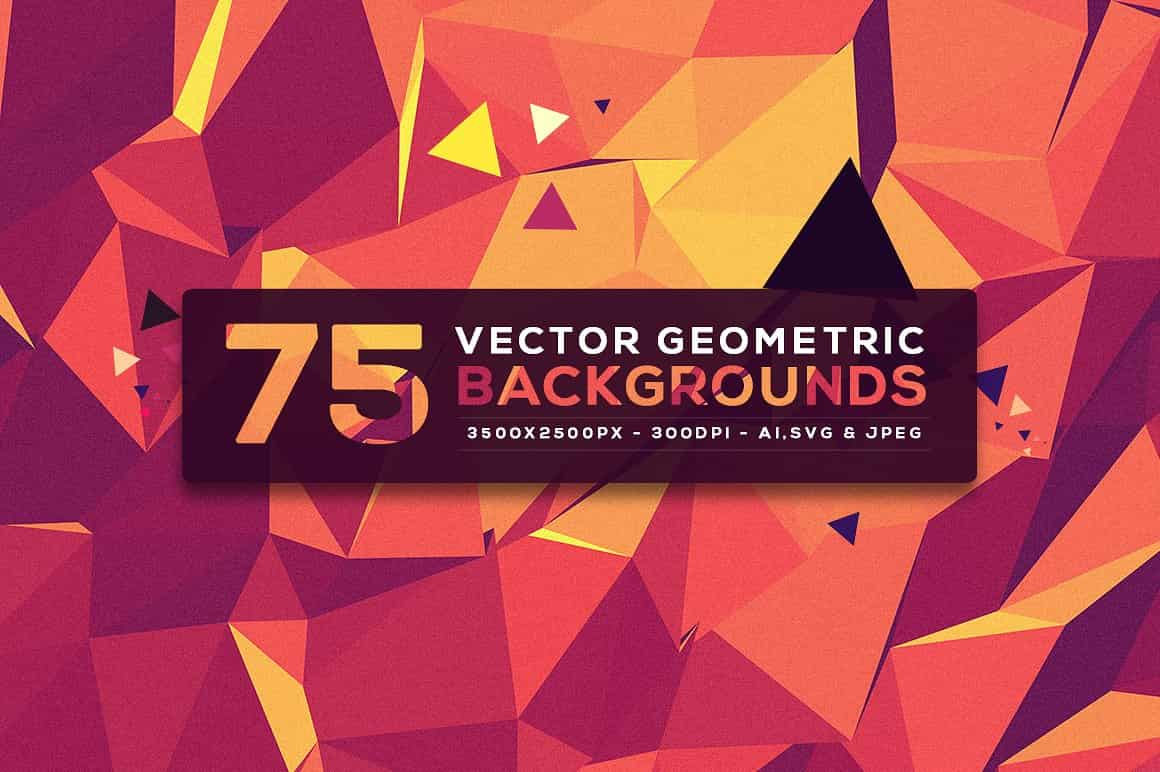 296 Vector Geometric Backgrounds - just $15 - 1.6 min