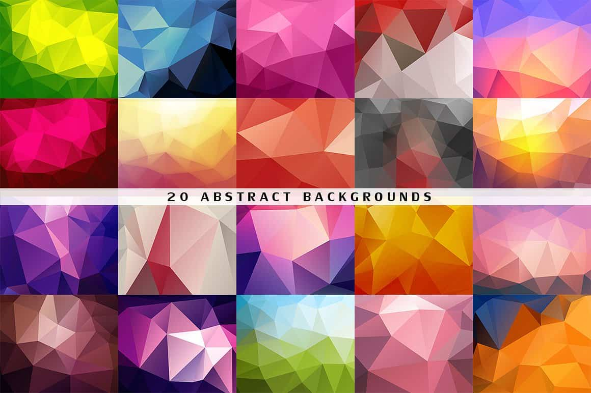 296 Vector Geometric Backgrounds - just $15 - 2 1 min