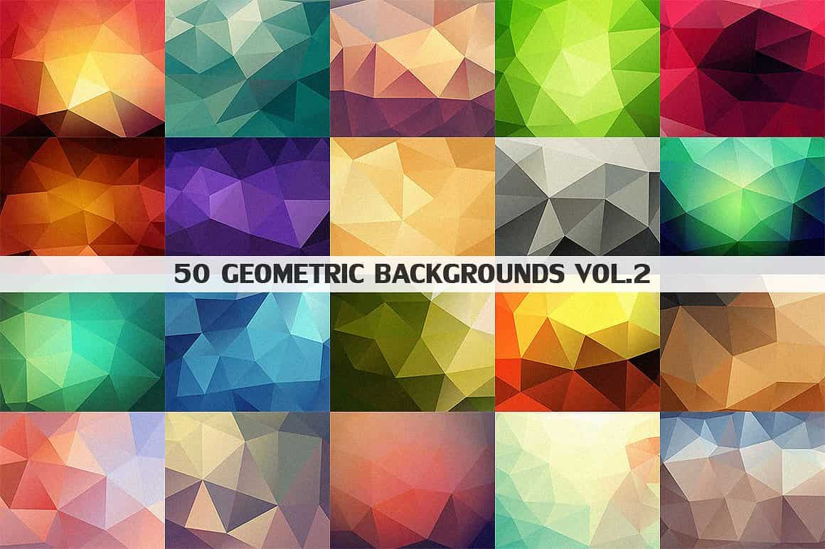 296 Vector Geometric Backgrounds - just $15 - 2 min 9