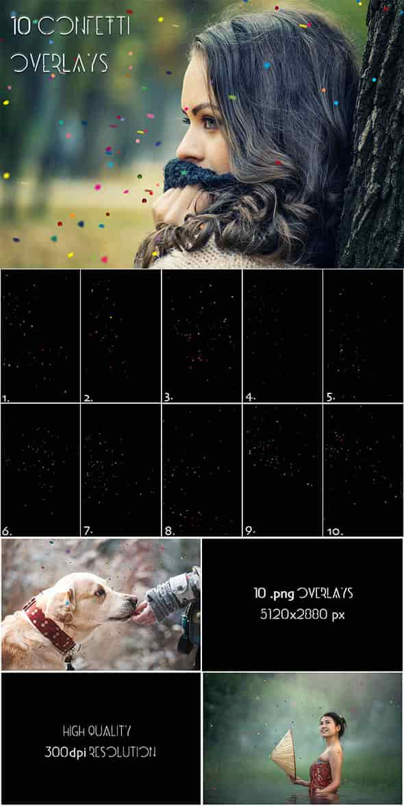 Over 11 400 Aesthetic Overlays Bundle SPECIAL OFF 98% - 41 Confetti Vol.2 min
