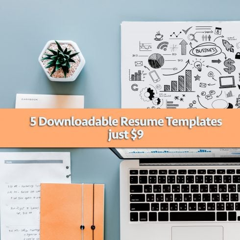 5 Fill-in Resume Templates - Just $9 to Download - 600 2 490x490