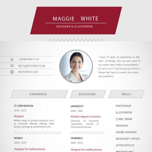 Blank Resume Templates - Print Ready CV Templates - 600 4 490x490