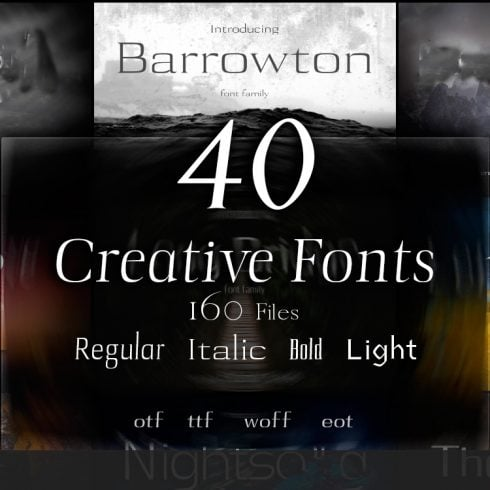 40 Creative Fonts - just $15 - 601 7 490x490