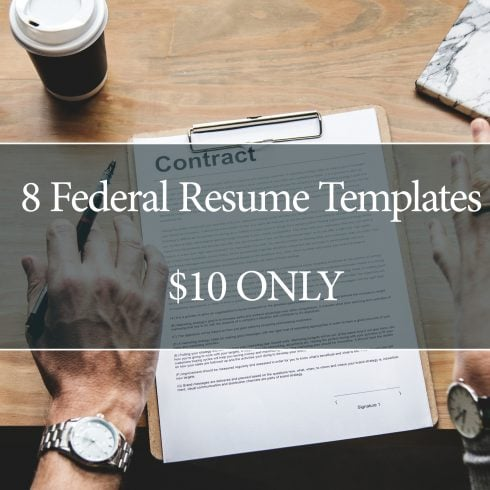 8 Federal Resume Templates – $10 ONLY