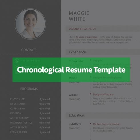 Best Reverse Chronological Resume Template - Just $5 - 603 490x490