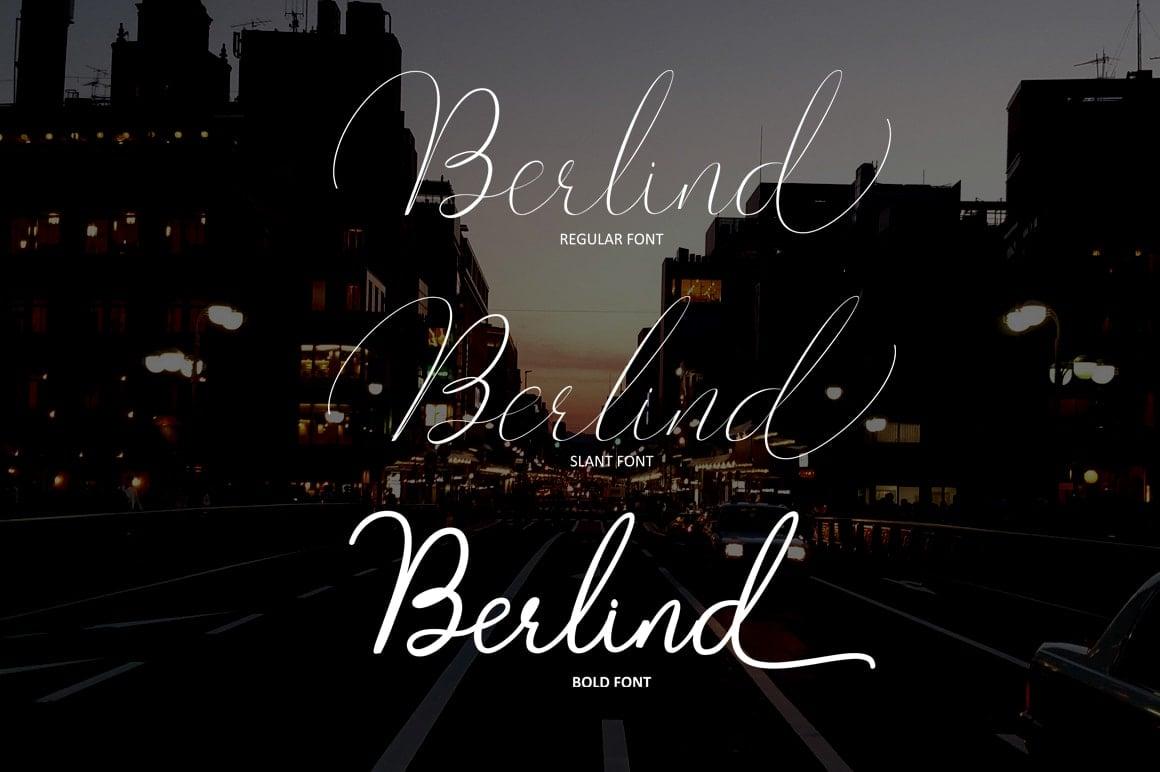 16 Handwritten Fonts - $15 ONLY - Berlin 2 min