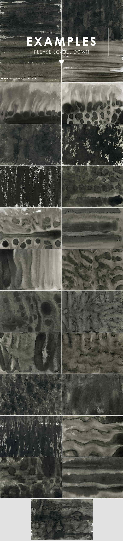 Ink&Marble Backgrounds & Textures Bundle: 900+ IMAGES - $18 Only - Black Ink Backgrounds 2 prev2 min