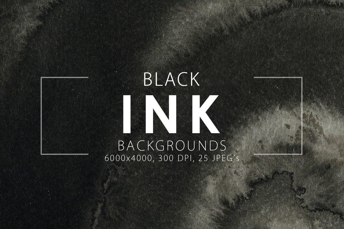 Ink&Marble Backgrounds & Textures Bundle: 900+ IMAGES - $18 Only - Black Ink Backgrounds prev1 min