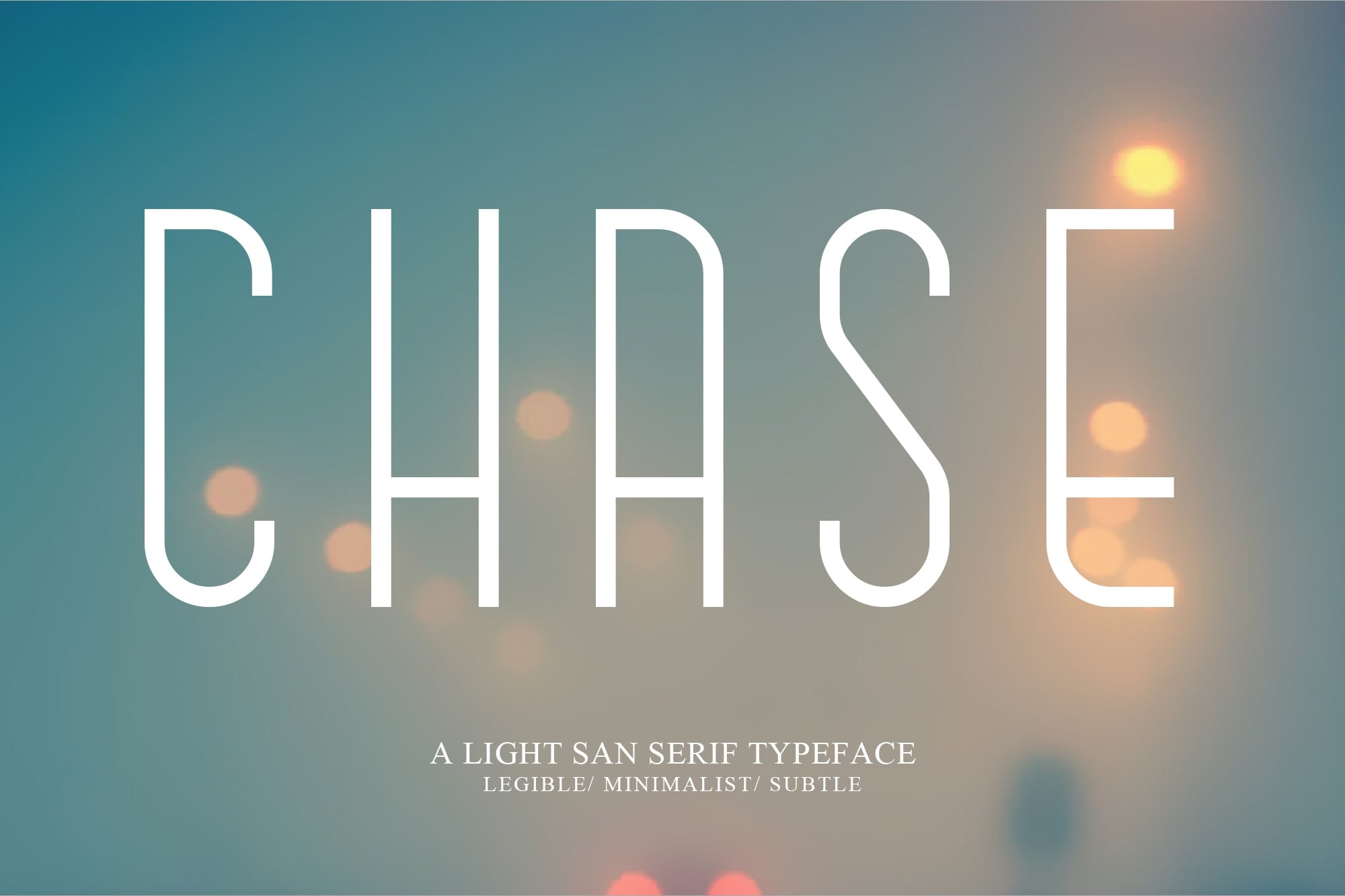 Simple Fonts - 33 Fonts in 13 Families Bundle - Chase 1 min