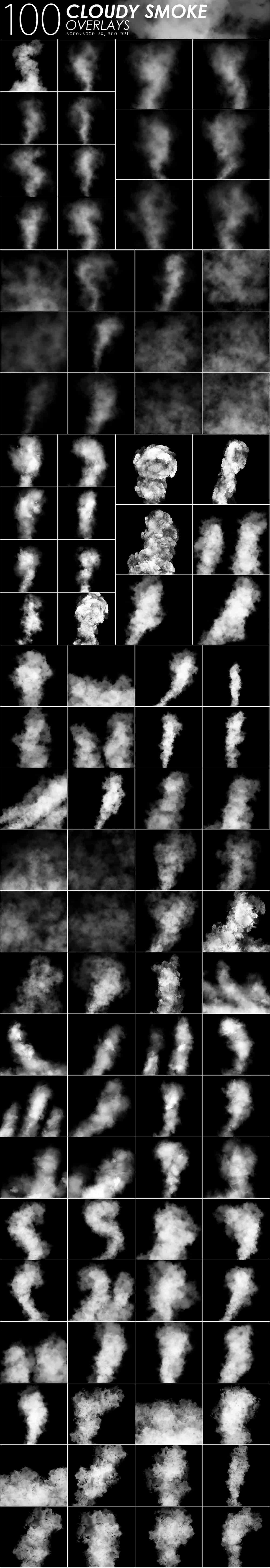 575 Fire, Smoke, Fog Overlays - just $15 - Cloudy Smoke prev min