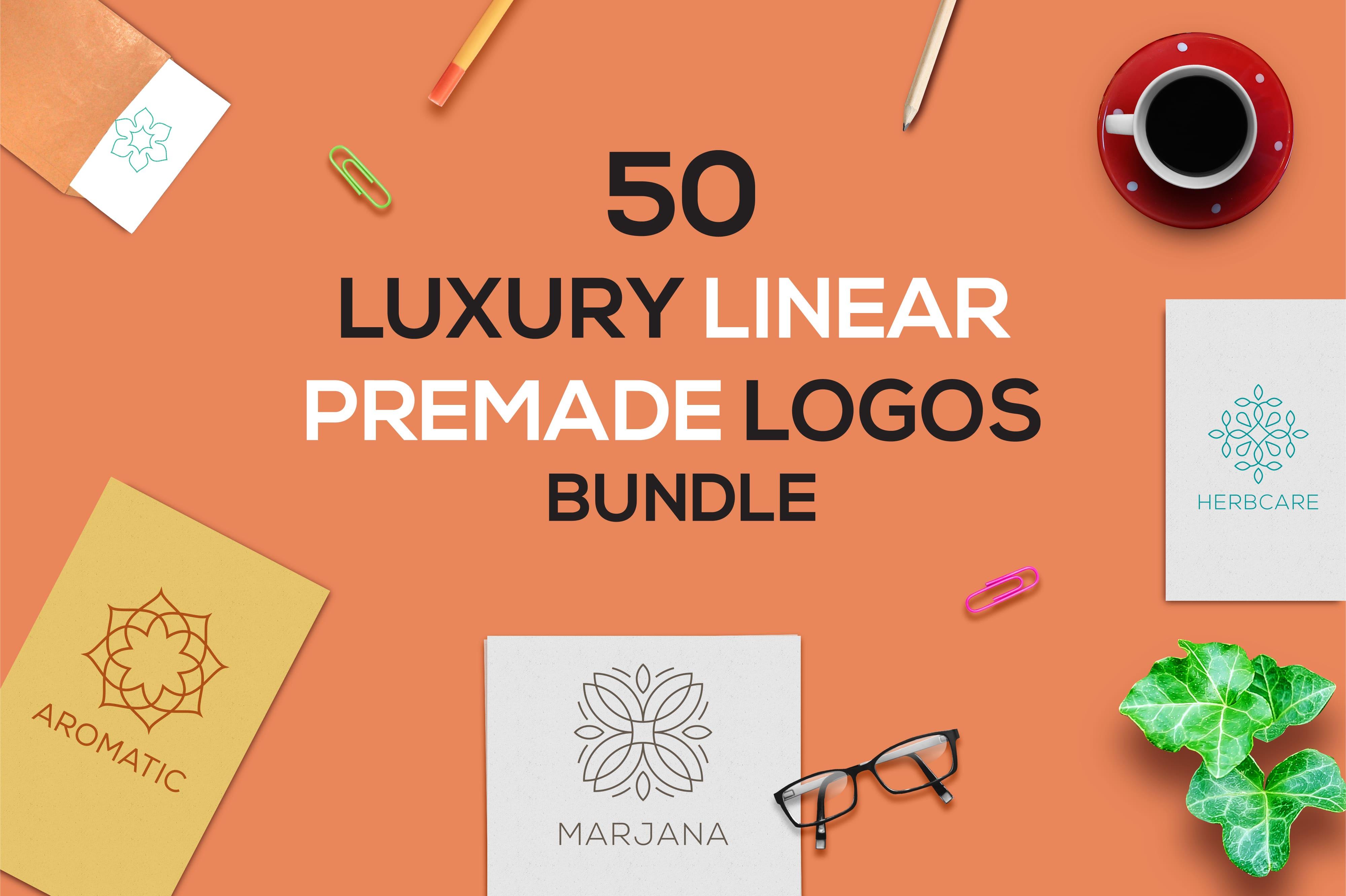 520 Premade Logo Bundle + Bonus - just $24 - D preview 01 min