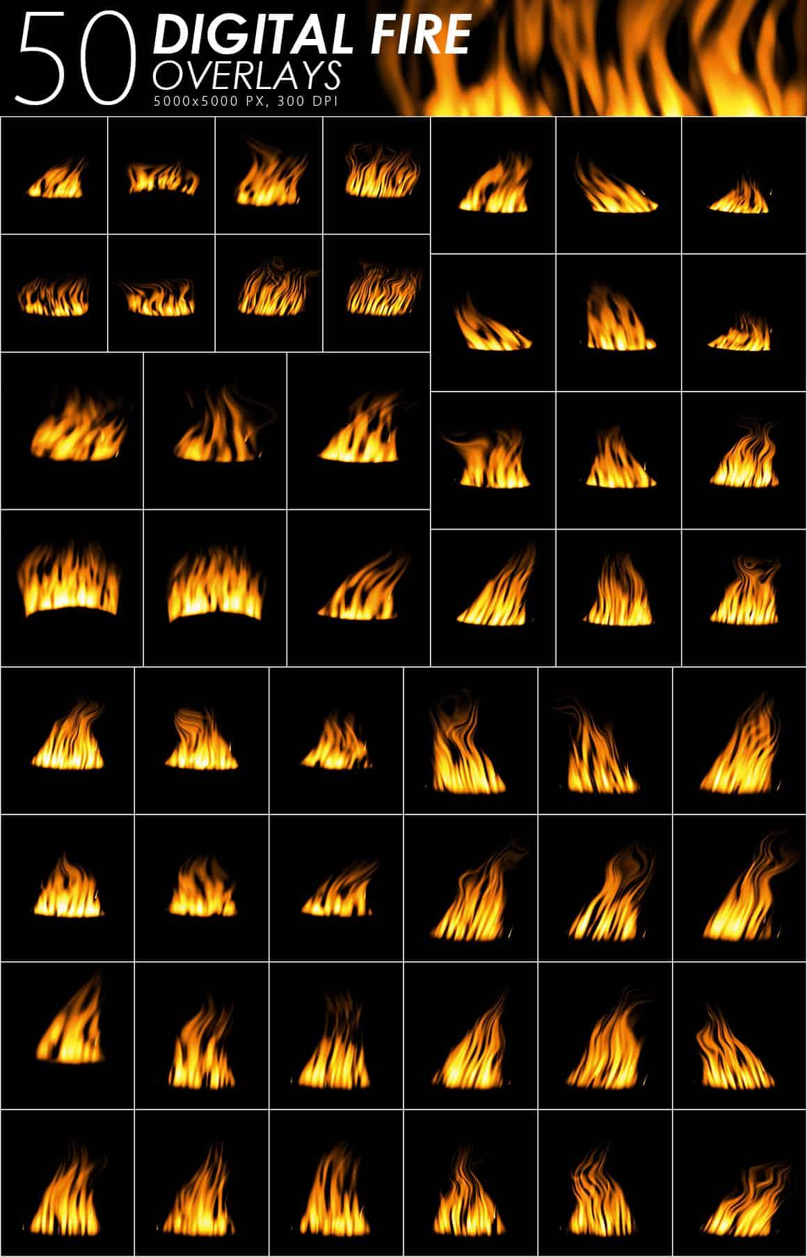 575 Fire, Smoke, Fog Overlays - just $15 - Digital Fire prev min