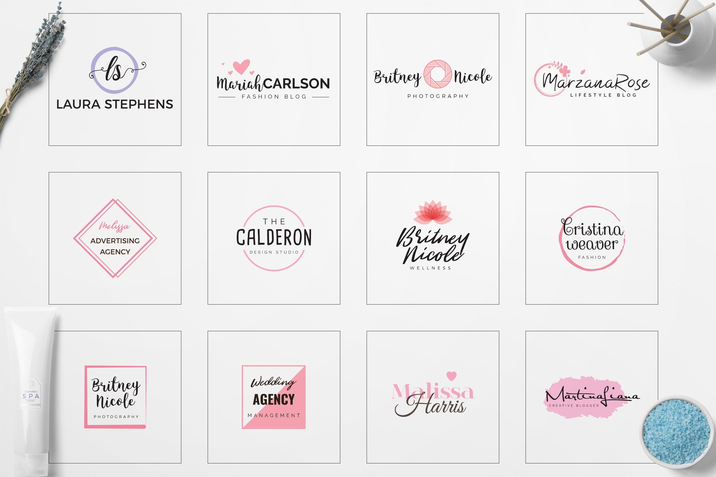 Feminine Logo: 52 Minimal Branding Girly Logos - E preview 03 min