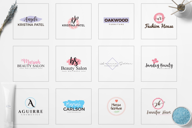 Feminine Logo: 52 Minimal Branding Girly Logos - E preview 05 min
