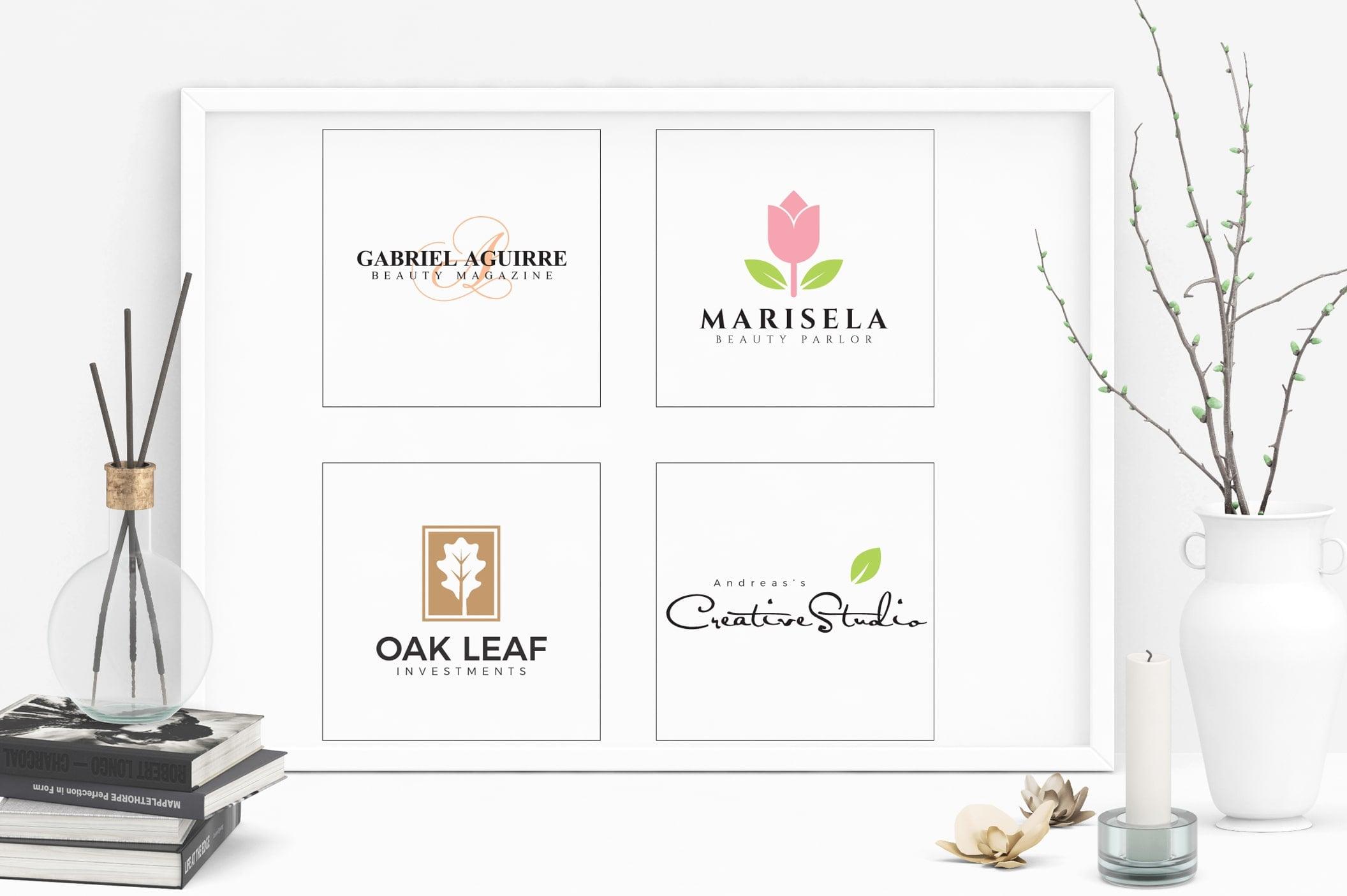 Feminine Logo: 52 Minimal Branding Girly Logos - E preview 06 min