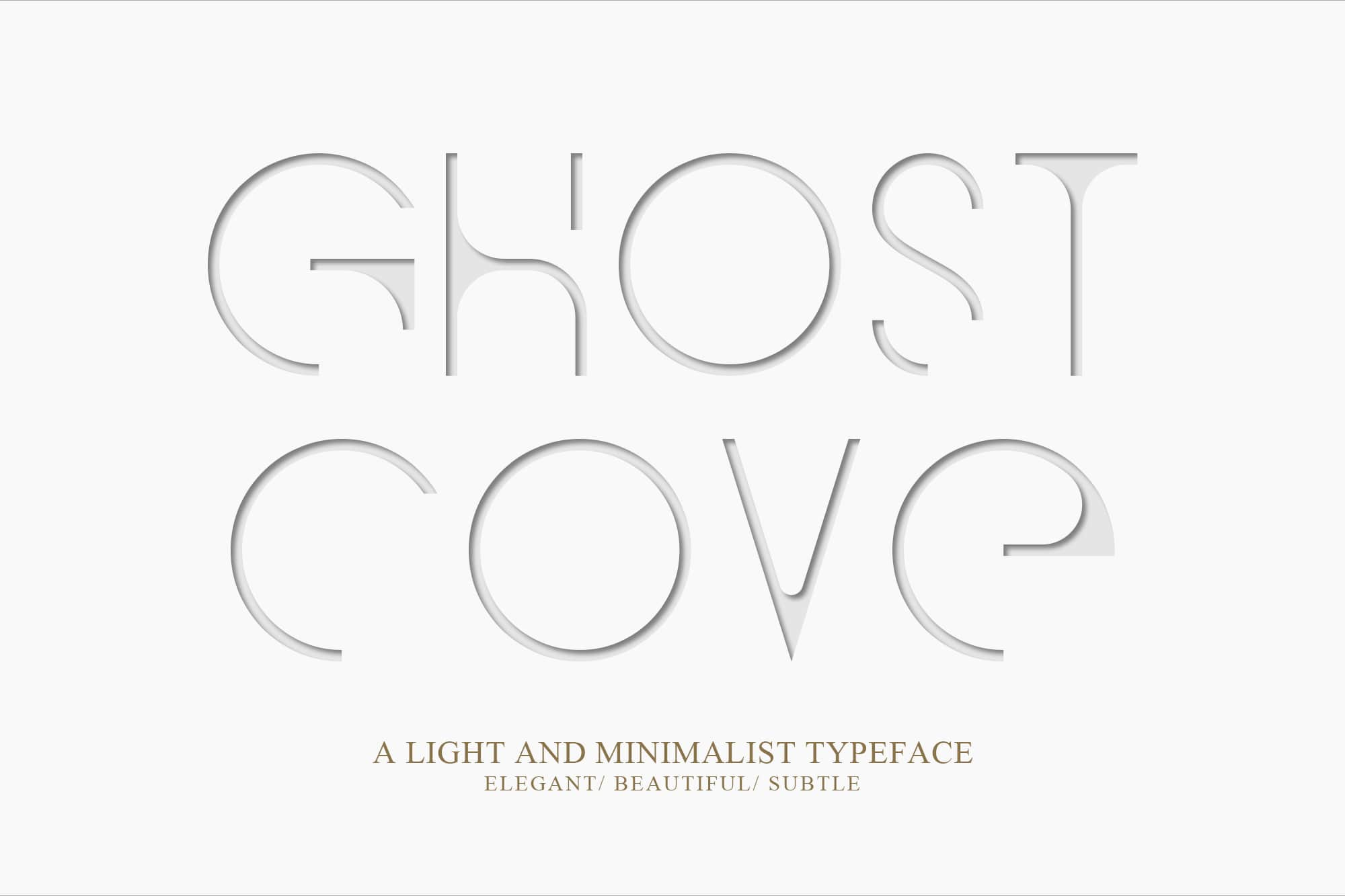 Simple Fonts - 33 Fonts in 13 Families Bundle - Ghost Cove 1 min