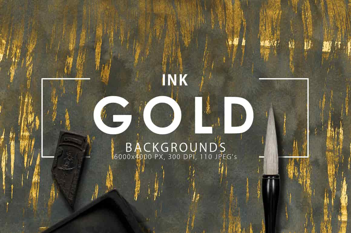 Ink&Marble Backgrounds & Textures Bundle: 900+ IMAGES - $18 Only - Gold Ink Textures prev1 min