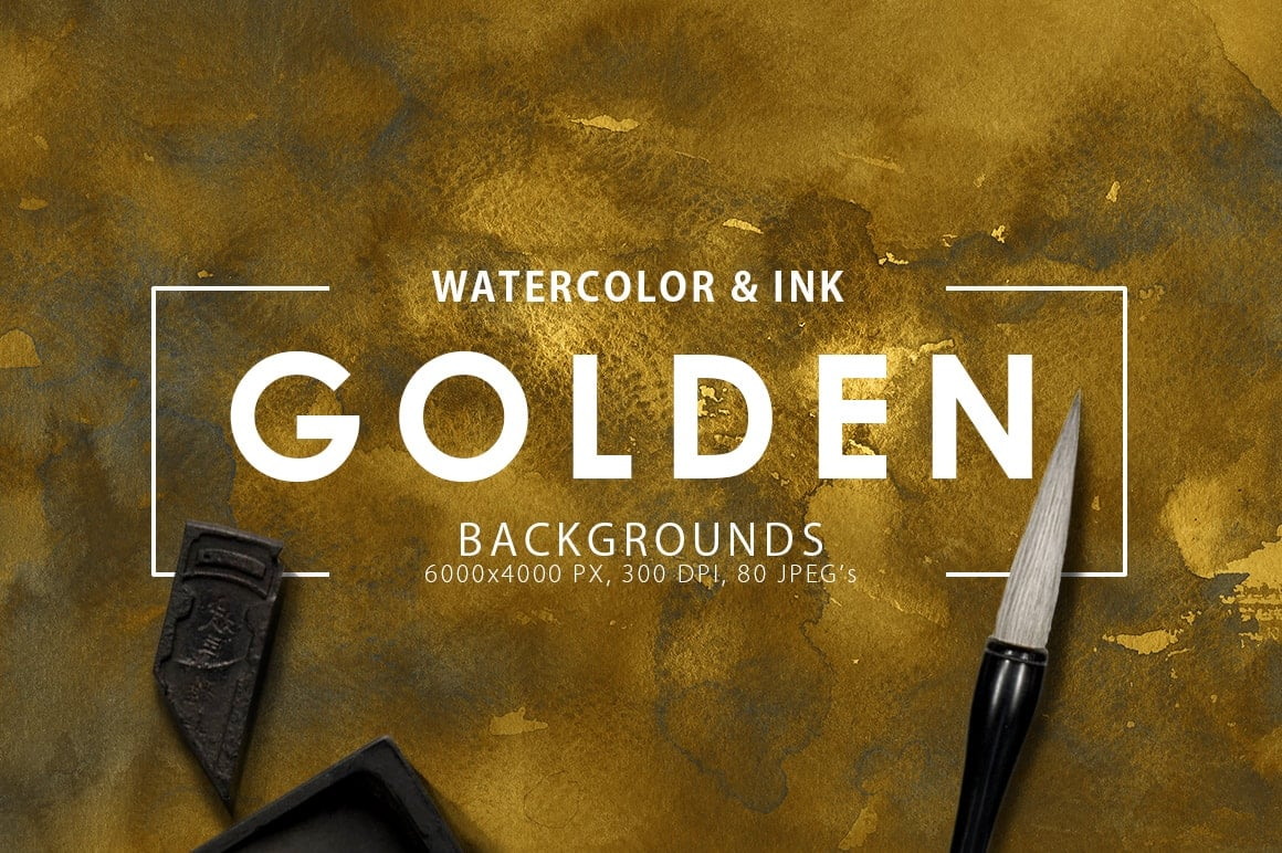 Ink&Marble Backgrounds & Textures Bundle: 900+ IMAGES - $18 Only - Golden Watercolor Ink Textures prev1 min