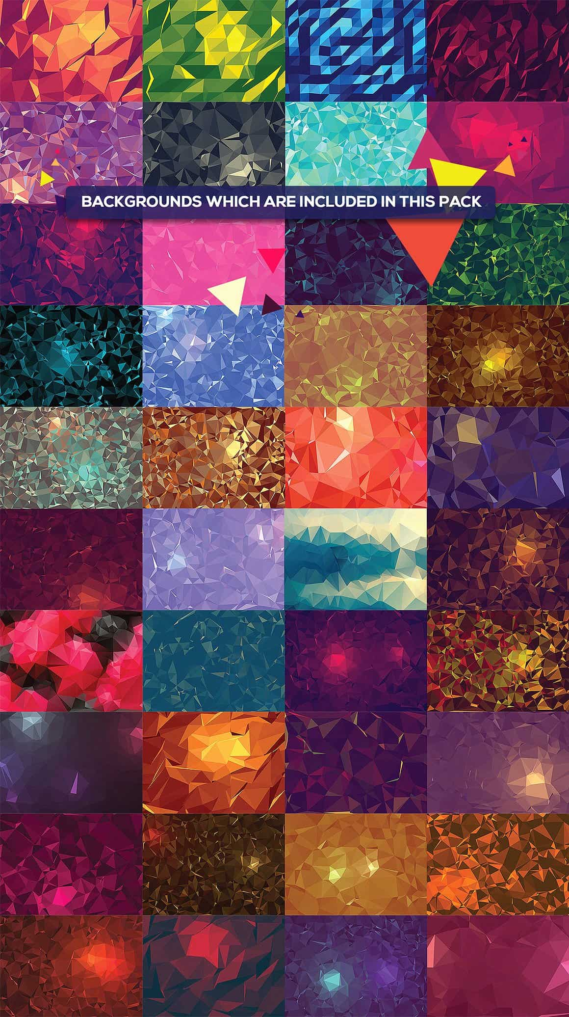 296 Vector Geometric Backgrounds - just $15 - all bg 75 min