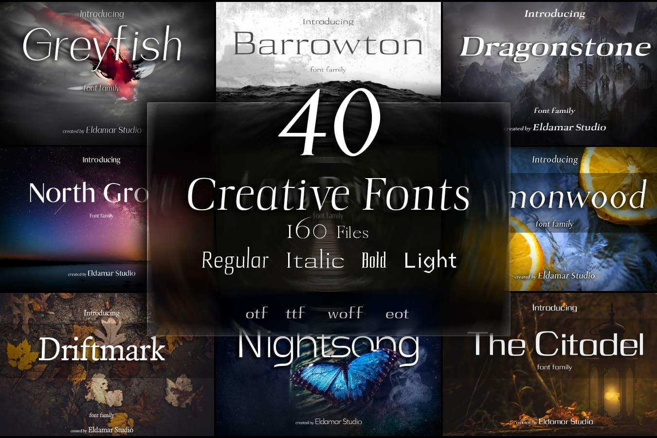 Fun Fonts - 40 Creative Fonts - 160 Files - Just $15 - fe51331f8aff0052d46bef7f359dc8f0 resize min