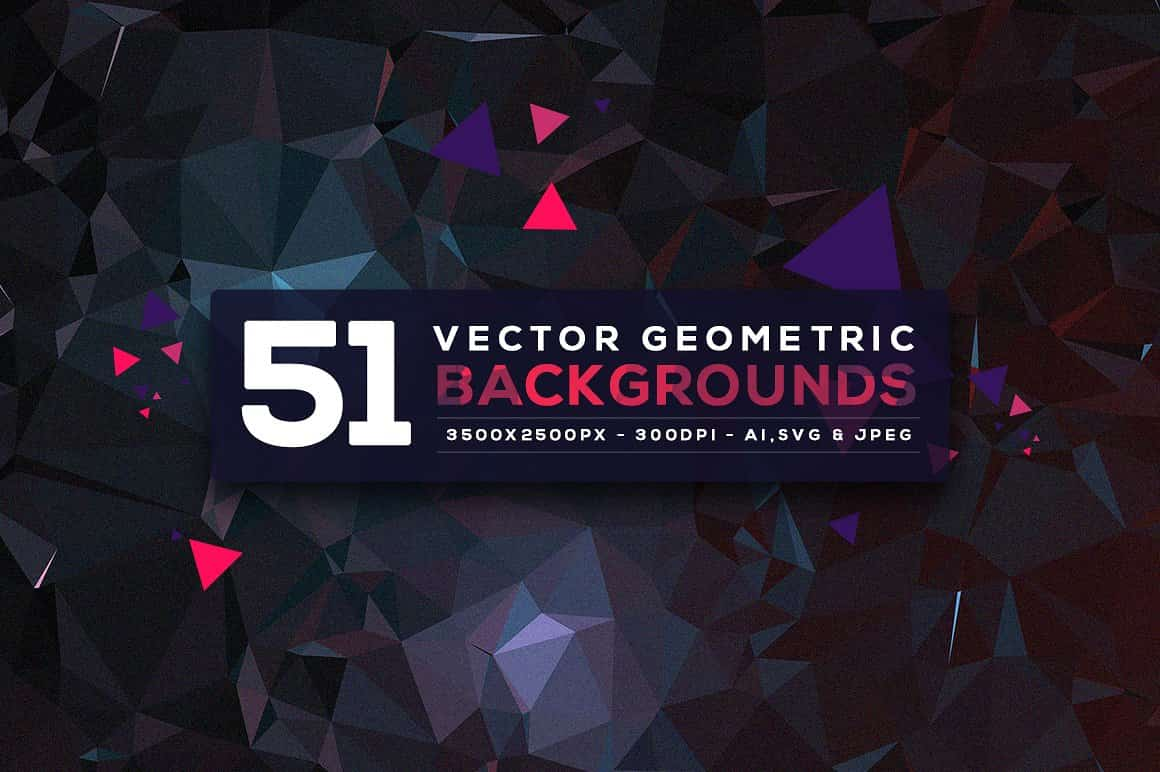 296 Vector Geometric Backgrounds - just $15 - fin min