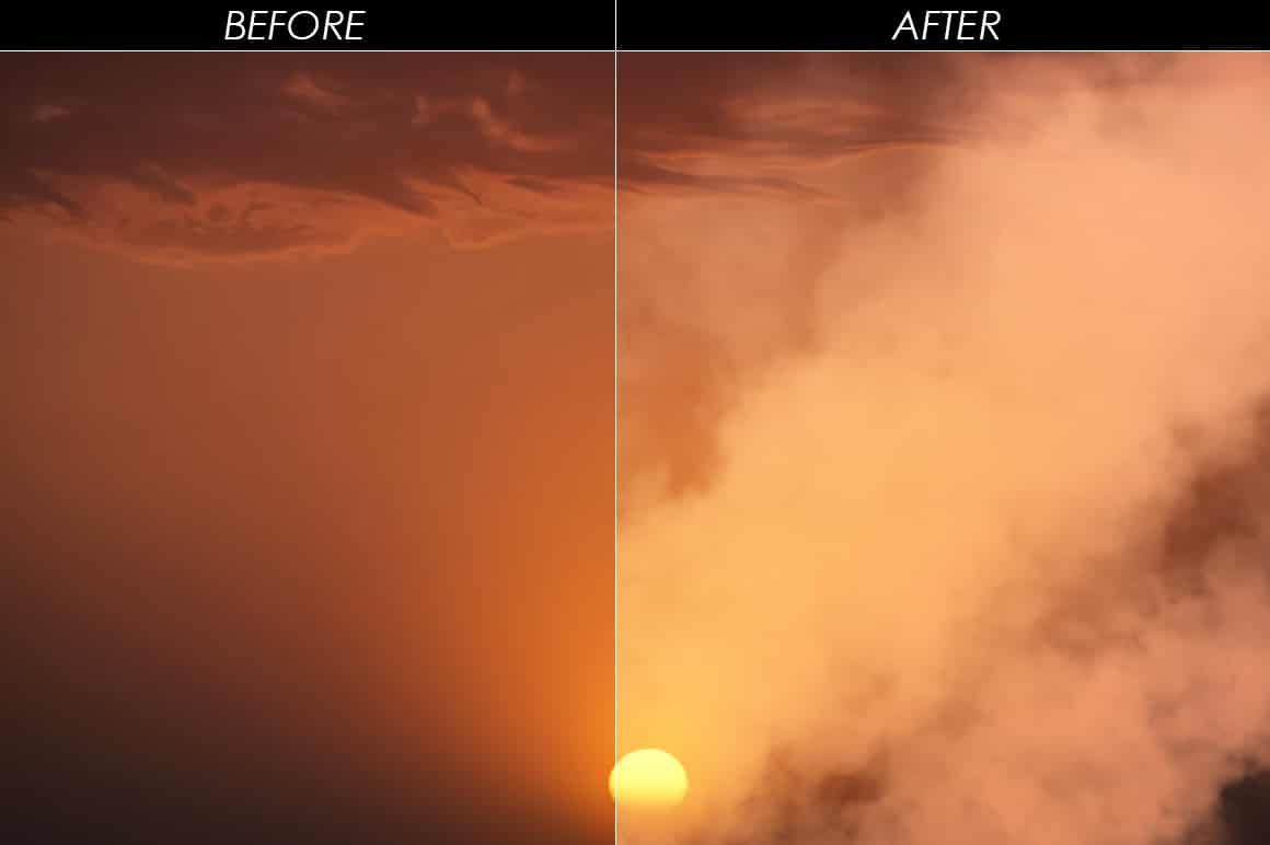 575 Fire, Smoke, Fog Overlays - just $15 - mockup 1 min