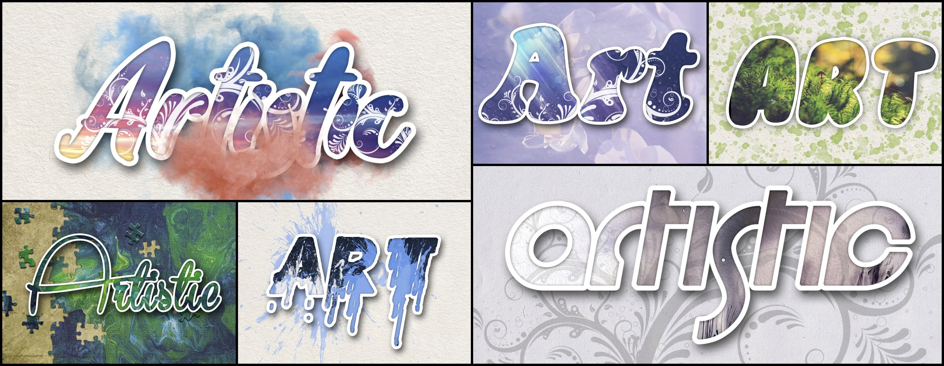 Photoshop Elements Text Effects - 40 Different Styles - 1 2