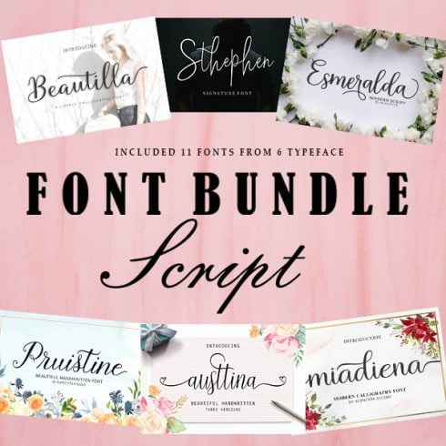 Font pack: 6 Lovely Items - $12 ONLY - 1 490x490