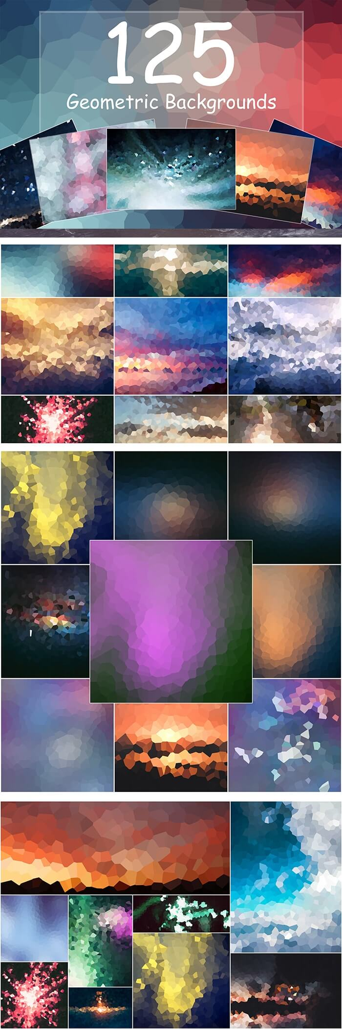 2000+ High Resolution Digital Backgrounds Bundle - $29 - 125 Geometric Backgrounds