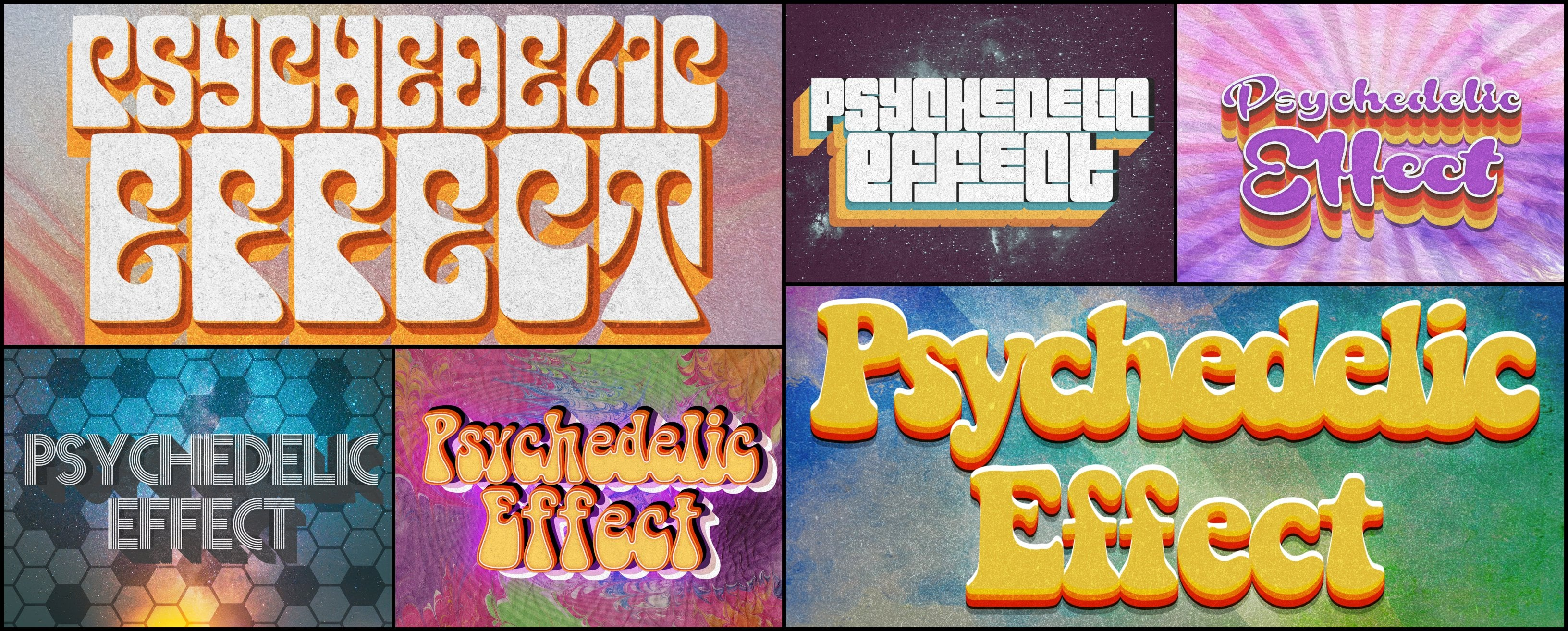 Photoshop Elements Text Effects - 40 Different Styles - 3