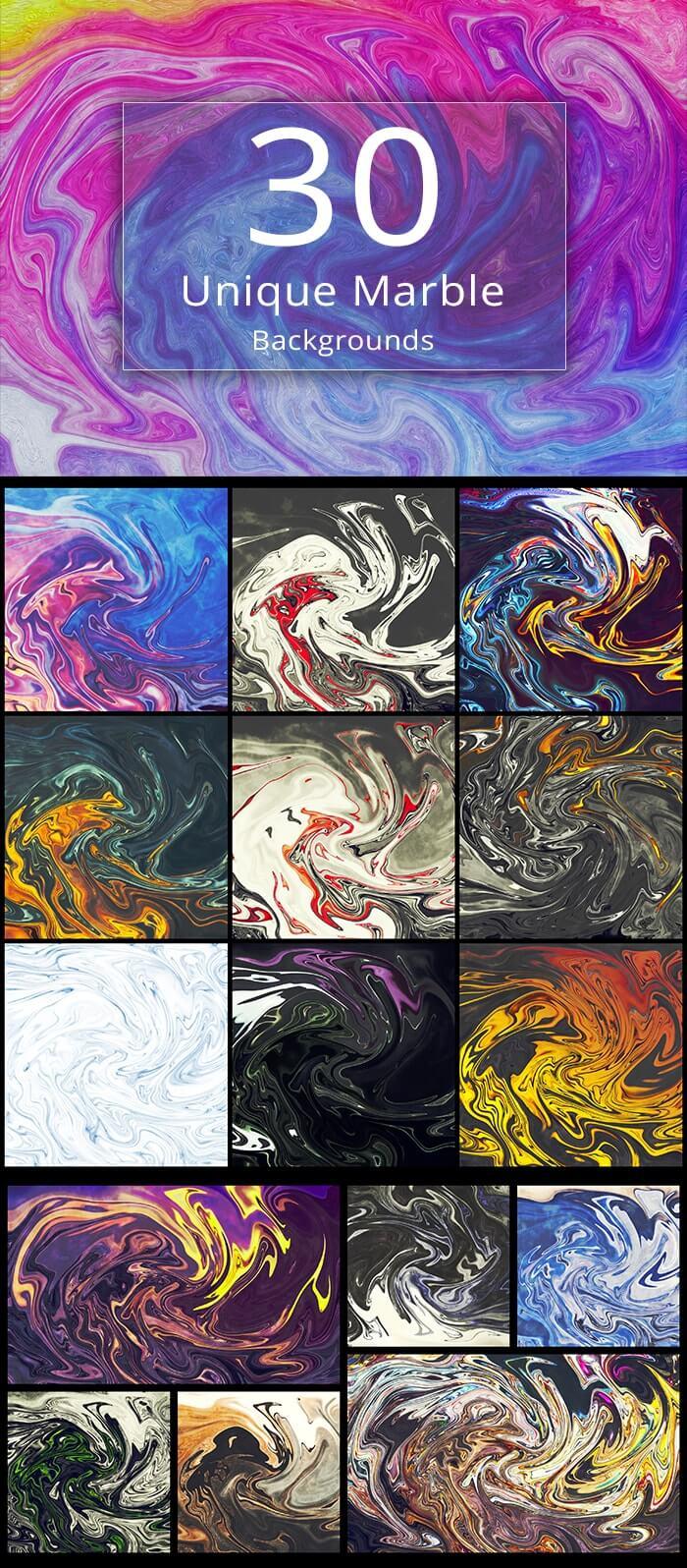 2000+ High Resolution Digital Backgrounds Bundle - $29 - 30 Unique Marble Backgrounds