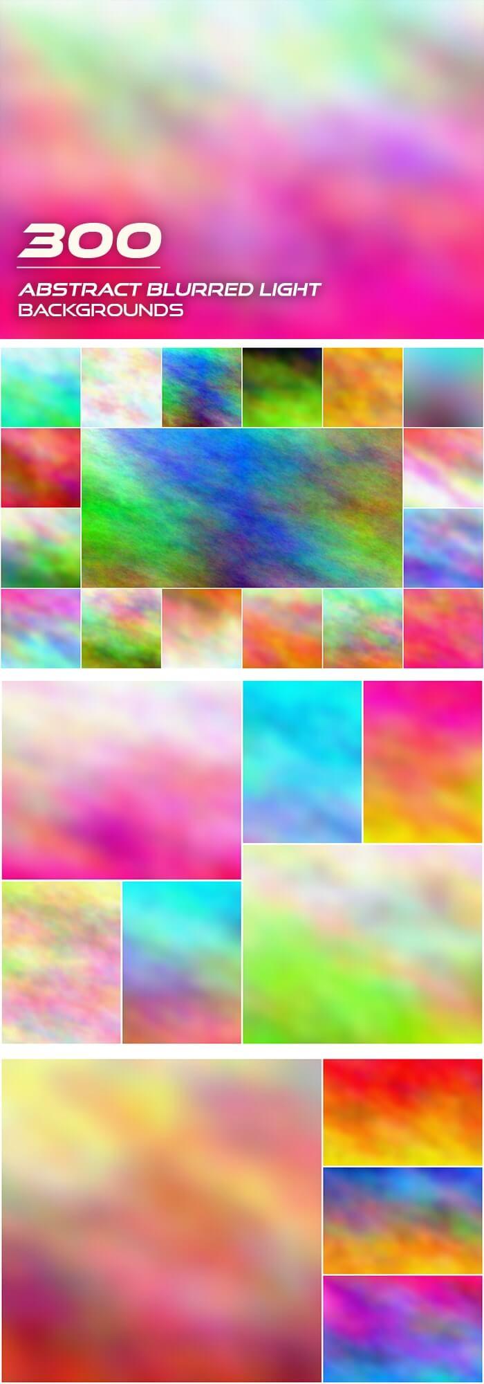 2000+ High Resolution Digital Backgrounds Bundle - $29 - 300 Abstract Blurred Light Backgrounds