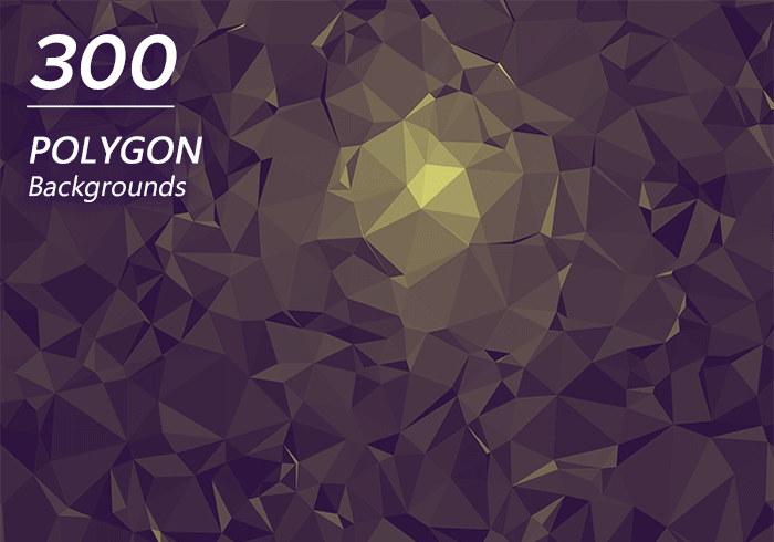 2000+ High Resolution Digital Backgrounds Bundle - $29 - 300 Polygon Backgrounds Main