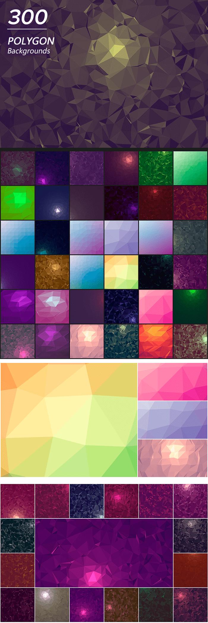 2000+ High Resolution Digital Backgrounds Bundle - $29 - 300 Polygon Backgrounds